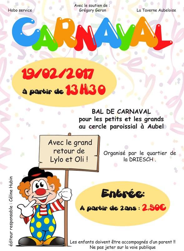 Affiche carnaval des enfants 2017