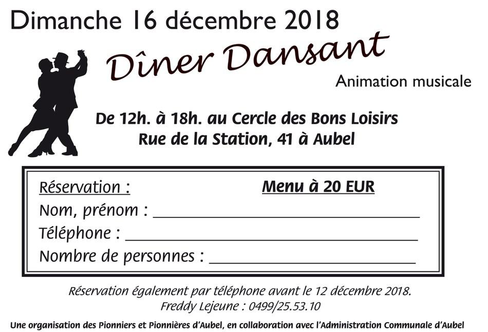 dîner dansant 2018 décembre