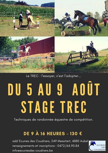 Stage trec du 5 au 9 août