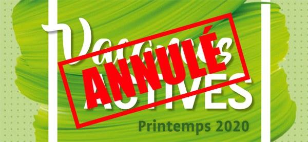 "ANNULÉ - Stages ""Vacances Actives"" - ANNULÉ"