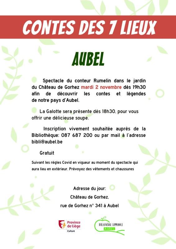 Verso Contes des 7 lieux Aubel